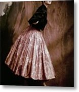 Suzy Parker In Givenchy Full Skirt Metal Print
