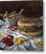Suzy-q Double Cheeseburger Metal Print by Timothy Jones