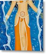 Svadhishthana Sacral Chakra Goddess Metal Print