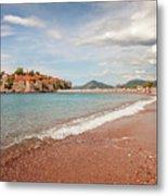 Sveti Stefan Island Iconic Landmark Metal Print