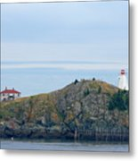 Swallowtail Lighthouse And Keeper Metal Print