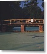 Swamp Bridge Metal Print