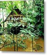 Swamp Hut In Honduras Metal Print
