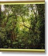 Swamp L B With Decorative Ornate Printed Frame. Metal Print