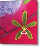 Swamp Orchi Fine Art Batik Metal Print