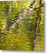 Swamp Reflections Abstract Metal Print