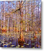 Swamp Tree Metal Print