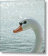 Swan Boat In The Lake Metal Print