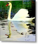 Who Is Afraid Of The Big White Swan  Metal Print by Hilde Widerberg