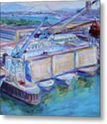Swan Island Poetry - Large Original Contempory Impressionist Painting Metal Print