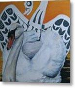 Swan Totem Metal Print