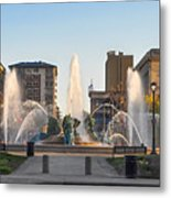 Swann Fountain In The Springtime Metal Print
