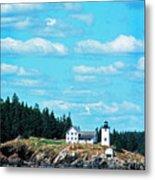 Swans Island Lighthouse Metal Print