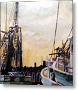 Swansboro Shrimp Boats Metal Print