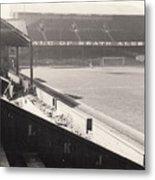 Swansea - Vetch Field - West Terrace 2 - Bw - 1960s Metal Print