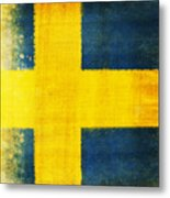 Swedish Flag Metal Print