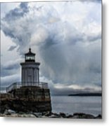 Sweeping Clouds Over Bug Light Metal Print
