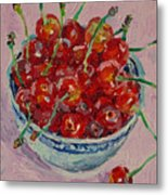 Sweet Cherries Metal Print