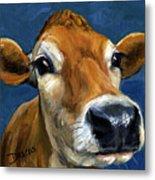 Sweet Jersey Cow Metal Print