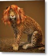 Sweet Lady Leopard Metal Print