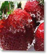 Sweet  Like A Chocolate Strawberry Metal Print by Colleen Kammerer