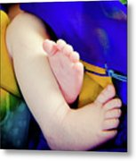Sweet Little Baby Feet Metal Print