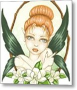 Sweet Magnolia Fae Metal Print