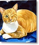 Sweet Melon - Ginger Tabby Cat Painting Metal Print