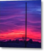 Sweet Nebraska Sunset 004 Metal Print