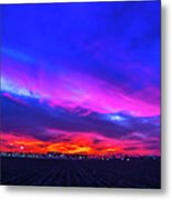 Sweet Nebraska Sunset 001 Metal Print