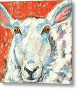 Sweet Sheep Metal Print