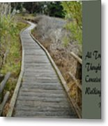 Sweet Springs Nature Preserve Text Metal Print