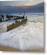 Swept Ashore Metal Print by Mike  Dawson