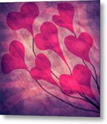 Swept Away In Your Love Romantic Textures Metal Print