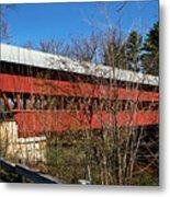 Swift River Covered Bridge Metal Print