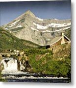 Swiftcurrent Falls Glacier Park 1 Metal Print