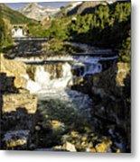 Swiftcurrent Falls Glacier Park 4 Metal Print
