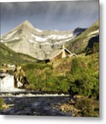 Swiftcurrent Falls Glacier Park Metal Print