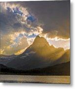 Swiftcurrent Lake Sundown Glacier N P Metal Print
