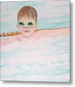 Swim Meet Metal Print by Janna Columbus