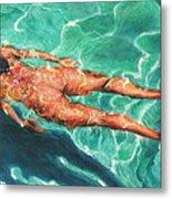 Swimmer 21 Metal Print