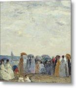 Swimmers On Trouville Beach Metal Print