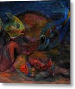 Swimming At The Rusty Heart Metal Print