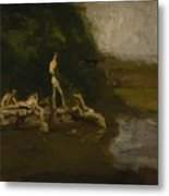 Swimming Hole Sketch Metal Print