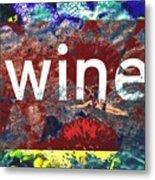 Swimming In Wine Metal Print