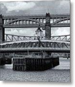 Swing Bridge Metal Print