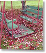 Swing Set Metal Print