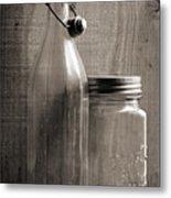Jar And Bottle  Metal Print