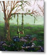 Swingin' With The Flowers Metal Print