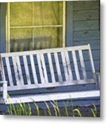 Swinging At The Cottage Metal Print